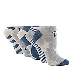 The Collection - Pack of 5 Star Print Trainer Socks
