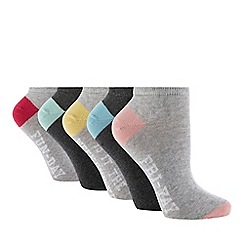 The Collection - 5 Pack 'Hello Weekend' Trainer Socks