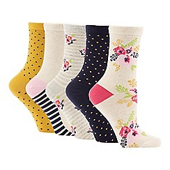 The Collection - 5 Pack Bloom Ankle Socks