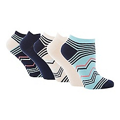 The Collection - 5 Pack Zig Zag Trainer Socks