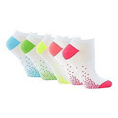 The Collection - 5 Pack Neon Trainer Socks