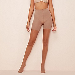 Spanx - Beige sheer firm control shapewear tights