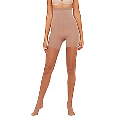 Assets Red Hot Label by Spanx - Beige sheer firm control shapewear tights