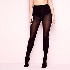 The Collection - Black 80 denier opaque shower resistant  tights