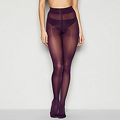 J by Jasper Conran - Purple opaque 'Luxury Shine' 60 denier tights