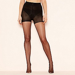 The Collection - 2 pack black 15 denier light control support tights
