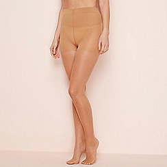 The Collection - 2 pack nude 15 denier light control tights