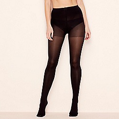 The Collection - 2 pack black 60 denier opaque light control support tights