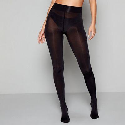MARIAN: Black opaque tights pantyhose