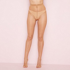 The Collection - Beige sheer open toe 7 denier tights