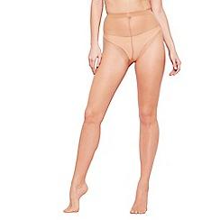 The Collection - Beige sheer non-slip 7 denier tights