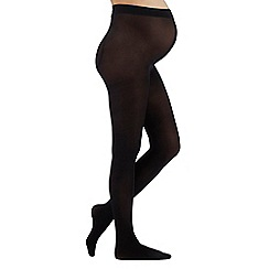 Debenhams - 2 pack black 60 denier opaque maternity tights