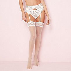 J by Jasper Conran - Ivory 10 denier bridal sheer stockings