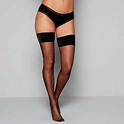 J by Jasper Conran - Black backseam 15 denier hold-ups