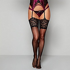 Reger by Janet Reger - Black lace 10 denier stockings
