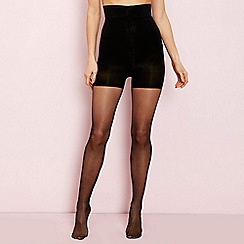 The Collection - Black firm control high waisted 10 denier shaping tights
