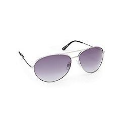 Beach Collection - Silver aviator sunglasses