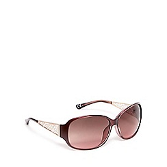Beach Collection - Dark red filagree oversized sunglasses