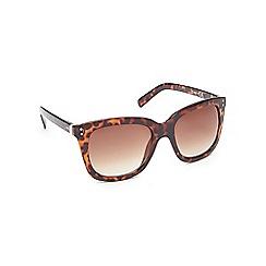 Red Herring - Light brown tortoise shell oversizes D-frame sunglasses
