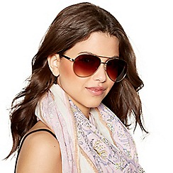 Mantaray - Gold tinted aviator sunglasses