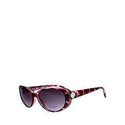 Gionni - Pink small plastic oval diamante detail sunglasses