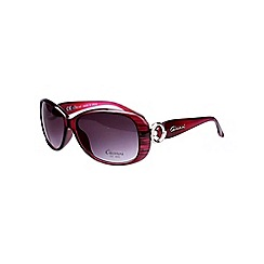 Gionni - Dark red circle arm detail sunglasses