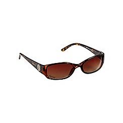 Gionni - Brown tortoise shell diamante cross hinge sunglasses
