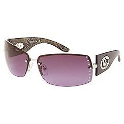 Gionni - Purple rimless diamante lens sunglasses