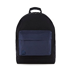 Mi-Pac - Black logo embroidered canvas backpack