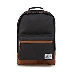 Animal - Black zip through backpack