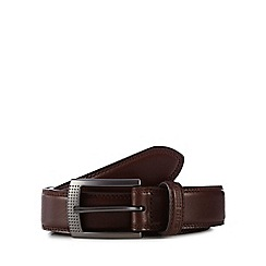 Ben Sherman - Brown leather 'Holloway' belt