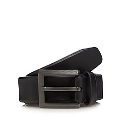 Jeff Banks - Big and tall designer black leather belt
