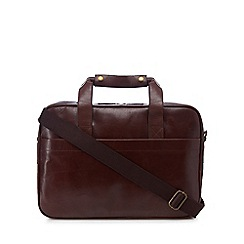 The Eighth - Brown leather 'Alexander' briefcase