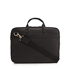 The Eighth - Black 'Nicholas' leather briefcase