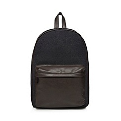 Jeff Banks - Grey laptop compartment backpack