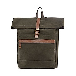 RJR.John Rocha - Green roll top canvas backpack