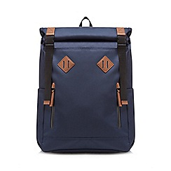 RJR.John Rocha - Navy roll down backpack