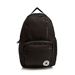 Converse - Black multiple pocket logo applique backpack