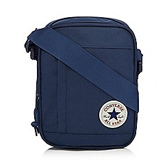 Converse - Navy logo applique cross body bag
