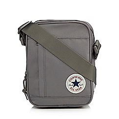 Converse - Grey logo applique cross body bag