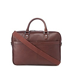 J by Jasper Conran - Tan leather 'Chestnut' briefcase