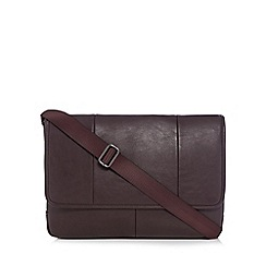 The Collection - Brown faux leather despatch bag