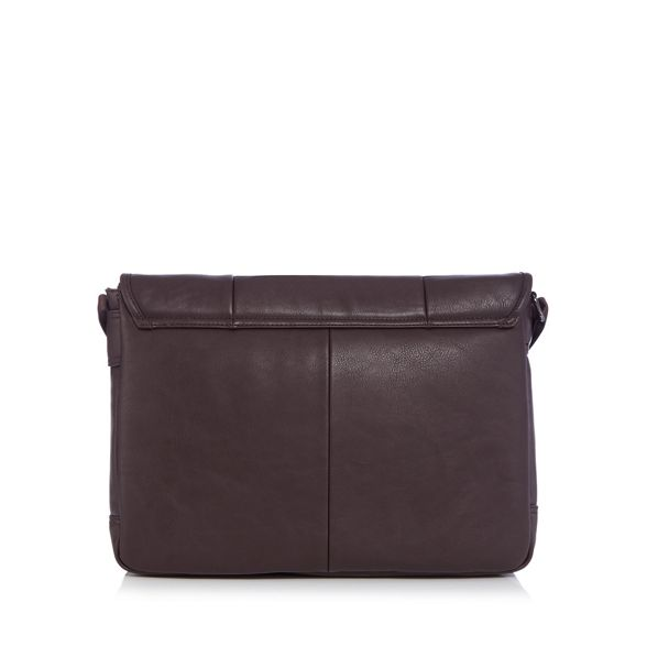 leather Collection faux The despatch Brown bag t1qPwa