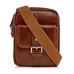 RJR.John Rocha - Tan faux leather cross body bag