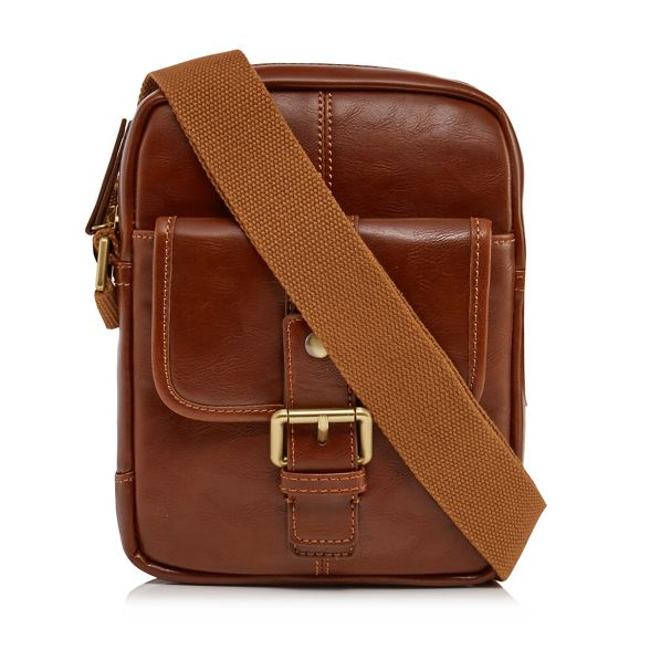 leather RJR Tan faux John bag Rocha body cross nxxrIZw