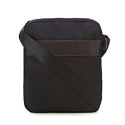 Jeff Banks - Black textured cross body flight bag