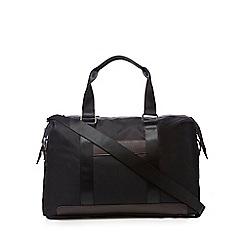 Jeff Banks - Black geometric holdall bag
