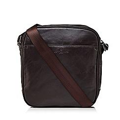 Jeff Banks - Brown mini cross body flight bag