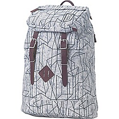 The Pack Society - Grey printed 'Premium' backpack