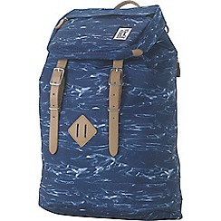 The Pack Society - Blue printed 'Premium' backpack